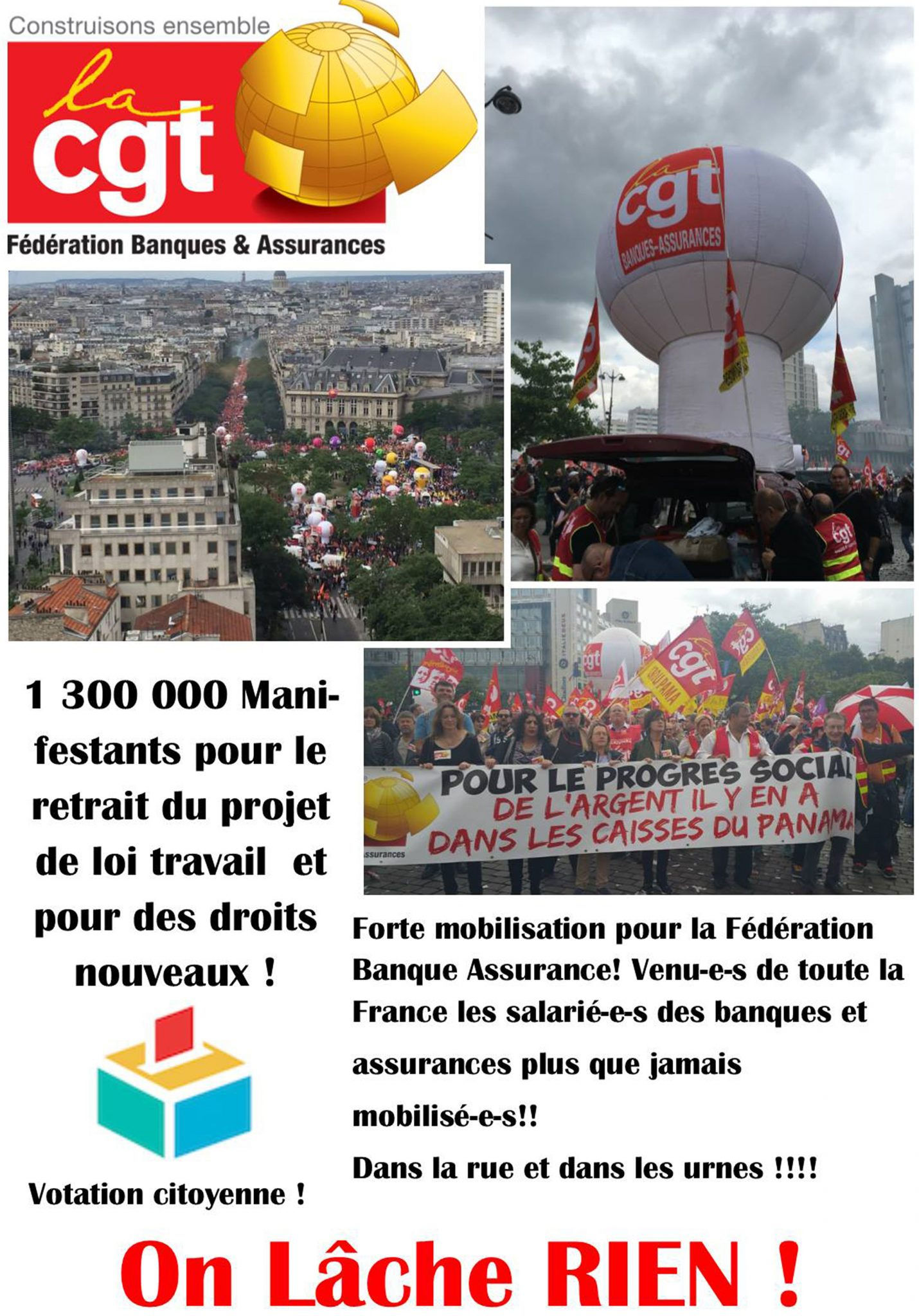La CGT Banques Assurances - 14 juin 2016 - PARIS